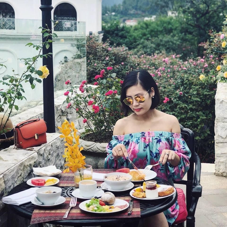 Bữa sáng tại khu nghỉ