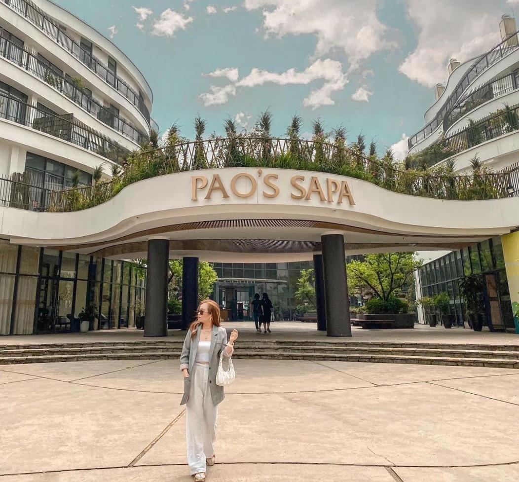 Pao's Sapa gây ấn tượng mạnh từ ban đầu với kiến trúc xanh