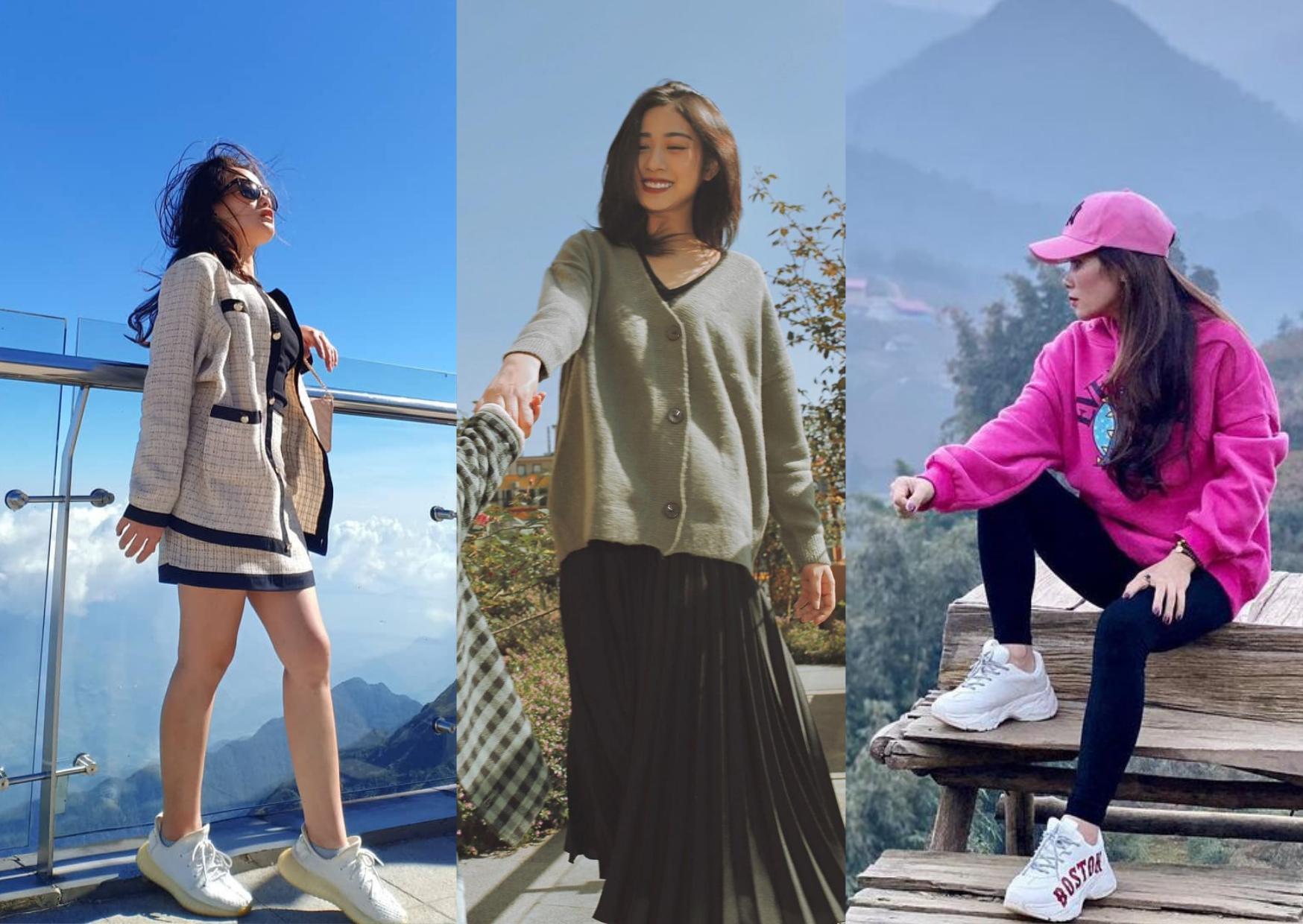 Nữ có nhiều phong cách phối đồ khác nhau từ thể thao cá tính đến dịu dàng